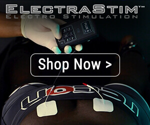 sidebar banner for ElectraStim with pads on back and caption says shop now